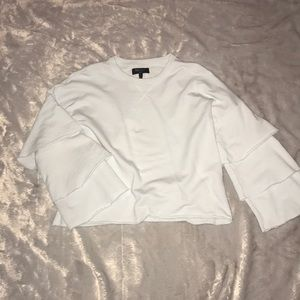 Juicy Couture light blue crop top ruffle sleeve S
